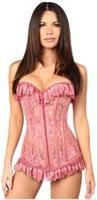 Lavish Mauve Sheer Lace Corset