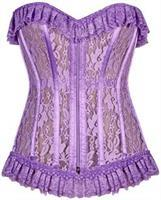 Lavish Lilac Sheer Lace Corset