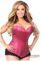 Lavish Fuchsia Glitter Side Zipper Corset