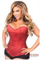 Lavish Red Glitter Side Zipper Corset