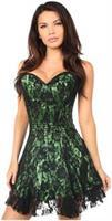 Lavish Green Lace Corset Dress