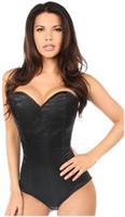 Lavish Black Satin Corset Romper