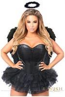 Lavish Flirty Dark Angel Corset Costume