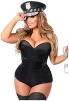 Lavish 3 PC Rhinestone Cop Costume