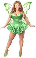 Lavish 2 PC Green Fairy Corset Dress Costume