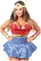Lavish 3 PC Superhero Corset Dress Costume