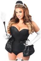 Lavish 5 PC Frisky French Maid Corset Costume