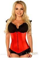 Lavish Red Underbust Zipper Corset