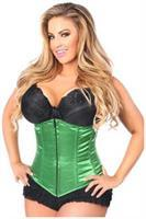 Lavish Green Underbust Zipper Corset