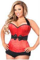 Lavish Red Halter Corset w/Bow