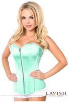 Lavish Mint Green Sweetheart Front Zipper Corset