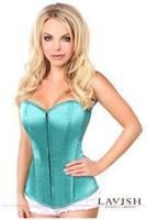 Lavish Deep Mint Green Sweetheart Front Zipper Corset