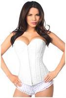 Lavish White Lace Overbust Corset w/Zipper