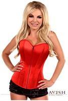 Lavish Red Sweetheart Front Zipper Corset