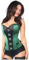 Top Drawer Green Buckle Steel Boned Corset