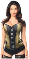 Top Drawer Olive Buckle Steel Boned Corset