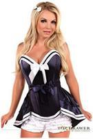 Top Drawer 4 PC Navy Sailor Corset Costume