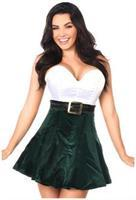 Top Drawer Steel Boned Holiday Corset Dress