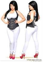 Top Drawer Denim Steel Boned Underbust Corset