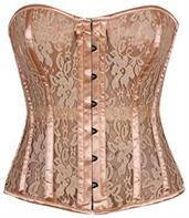 Top Drawer Tan Lace Molded Cup Corset