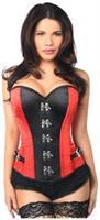 Top Drawer Red Buckle Steel Boned Corset