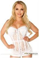 Top Drawer Ivory Lace Molded Cup Corset