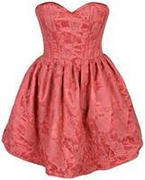 Top Drawer Steel Boned Coral Lace Empire Waist Corset Dress