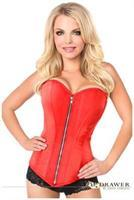 Top Drawer Red Satin Steel Boned Corset