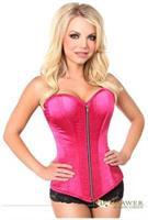 Top Drawer Fuchsia Satin Steel Boned Corset