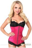 Top Drawer Fuchsia Satin Underbust Steel Boned Corset