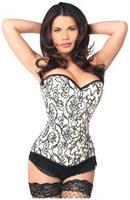 Top Drawer Elegant Ivory Embroidered Steel Boned Corset