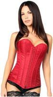 Top Drawer Wine Brocade Steel Boned Corset