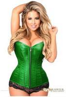 Top Drawer Emerald Green Brocade Steel Boned Corset