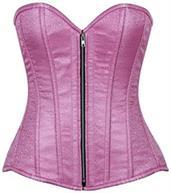 Top Drawer Pink Brocade Steel Boned Corset