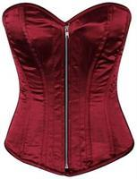 Top Drawer Bordeaux Satin Steel Boned Corset