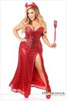 Top Drawer Premium Sequin Devil Costume