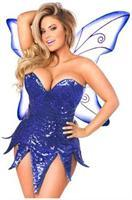 Top Drawer Blue Sequin Fairy Corset Dress Costume