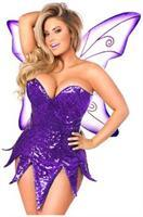 Top Drawer Purple Sequin Fairy Corset Dress Costume