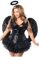 Top Drawer 4 PC Sequin Night Angel Corset Costume