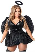 Top Drawer 4 PC Fallen Angel Corset Costume
