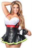 Top Drawer 2 PC Flamin' Hot Firefighter Corset Costume