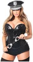 Top Drawer 4 PC Sequin Cop Corset Costume