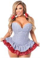 Top Drawer 2 PC Sequin Kansas Girl Corset Dress Costume