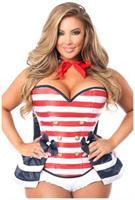 Top Drawer 4 PC Pin-Up Sailor Corset Costume