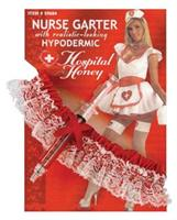 Hospital honey nurse garter with hypodermic