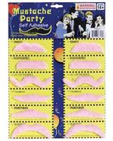 Mustache Party Self Adhesive - Pink Card of 12