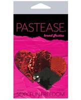 Pastease Double Sequin Hearts - Red/Black