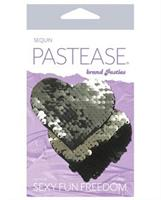 Pastease Color Changing Flip Sequins Heart - Slate/Black