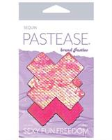 Pastease Color Changing Flip Sequins Cross - Pink