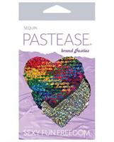 Pastease Color Changing Flip Sequins Heart - Rainbow